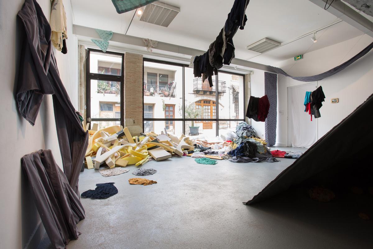 Nathalie Lahargue, artiste accueillie en résidence au printemps 2015, pollen
