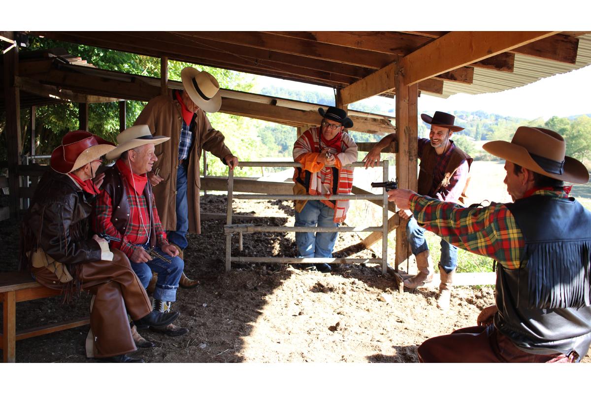"Tournage des ""Cowboys"" de Julie Chaffort en 2016"